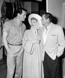 Rock Hudson Photo - Rock Hudson Desi Arnaz and Lucille Ball on the I Love Lucy Set Phoot by Globe Photos Inc