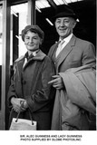 Alec Guinness Photo - Sir Alec Guinness and Lady Guinness Photo Supplied by Globe Photosinc