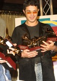 Alexandro Sanz Photo - Alexandro Sanz Holds His 4 Grammys 2nd Latin Grammy Awards Conga Room Los Angeles CA October 30 2001 Photo by Nina PrommerGlobe Photos Inc 2001 K23232np (D)
