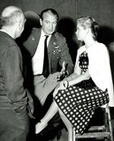 Gary Cooper Photo - Otto Preminger Gary Cooper and Elizabeth Montgomery Filming the Court Martial of Billy Mitchell 1955 Photo Supplied by Smp-Globe Photos
