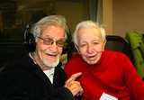 Irwin Corey Photo - Guests on the Joey Reynolds Show in New York City 10-30-2009 Photo by Mark Kasner-Globe Photos Inc Irwin Corey and Mickey Freeman