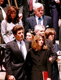 Jackie Onassis Photo - Jackie Onassis Death Family Members Leaving the Church Photo by Bruce Cutler  Globe Photos Inc