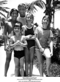 JFK Jr Photo - John F Kennedy Jr in Hawaii with Sister Caroline Righ(right) Uncle Peter Lawford and His Children Christopher and Sydney Lawford 1966 Photo the Lawford CollectionGlobe Photos Inc
