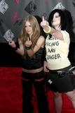 Avril Lavigne Photo - Mtv Video Music Awards Arrivals Radio City Music Hall New York City Photorick Mackler  Rangefinders  Globe Photos Inc 2003 08282003 Avril Lavigne and Kelly Osbourne