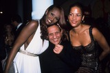 Azzedine Alaia Photo - Veronica Webb with Azzedine Alaia and Iman Alaia Opening Celebration at Guggenheim Soho New York 2000 K19933smo Photo by Sonia Moskowitz-Globe Photos Inc