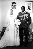 Amine Photo - Idi Amin and His Bride Miss Sarah CpGlobe Photos Inc