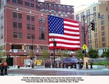 American Flag Photo - Ps89 in Manhattan Just a Few Blocks From the World Trade Center Hangs the American Flag That Flies on the George Washington Bridge Photo by Bruce CotlerGlobe Photos Inc