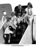JFK Jr Photo - John F Kennedy Jr Arrive in Hawaii with Mother Jaqueline Uncle Peter Lawford Sister Caroline Cousin Sydney and Christopher Lawford 1966 Photo the Lawford CollectionGlobe Photos Inc