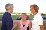 Cindy Sheehan Photo - K44559JN CINDY SHEEHAN WHOS SON CASEY WAS KILLED IN THE WAR WITH IRAQ HOLDS A CANDLELIGHT VIGIL TO PROTEST THE WAR OUTSIDE PRESIDENT BUSH S RANCH IN CRAWFORD TEXAS  07-17-2007PHOTO BY JEFF NEWMAN-GLOBE PHOTOS INC  2005CNNs Anderson Cooper chats with anti war protestor CindySheehan in preparation for a 5PM interview