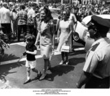 JFK Jr Photo - John F Kennedy Jr in Hawaii with His Mother Jacqueline at a Celebration For the Birthday of King Kamahameha 1966 Phot the Lawford CollectionGlobe Photos Inc