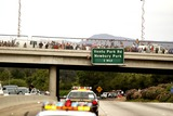 President Ronald Reagan Photo - MOURNERS ALONG THE WAY -The flag draped casket of former president Ronald Reagan is carried in the hearse for transport to the Naval Base Ventura County at Point Mugu from the Ronald Reagan Presidential Library and then flown to Washington DC for the state funeralMOORPARK CA -06092004 -PHOTO BY POOLGLOBE PHOTOS INC2004K37630NP