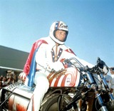 Evel Knievel Photo - Evel Knievel in Twin Falls Snake River Canyon Photo by Russ ReedGlobe Photos