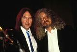 Arlo Guthrie Photo - Neil Young with Arlo Guthrie 1988 Photo by Corkery News-Globe Photos Inc