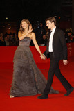 Alexandra Maria Lara Photo - Actress Alexandra Maria Lara (wearing a dress by Ferretti) and husband Sam Riley arrive at the premiere of The City Of Your Final Destination at the 4th Rome International Film Festival at Auditorium Parco della Musica in Rome Italy on october 16th 2009 Photo Alec Michael-Globe Photos Inc  2009K63433AM