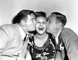 Margaret Whiting Photo - Lou Costello Margaret Whiting and Bud Abbott Globe Photos Inc