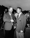 Arnold Palmer Photo - Arnold Palmer with Jack Nicklaus at Masters Final Day 1965photo by Morgan fitz-globe Photos Inc