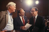Al DAmato Photo - Alan Greenspan with AL Damato and Pat Moynihan 7-21-1987 14594 Photo by James Colburn-ipol-Globe Photos Inc