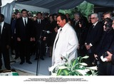 As Yet Photo - IMAPRESS PH   BENITO  CLEMOTFUNERAL OF PRINCESS LEILA PAHLAVI IN PARIS 16TH JUNE 2001 IN TOTAL BEREAVEMENT THE EX-EMPRESS OF IRAN FARAH PAHLAVI BURIED HER DAUGHTER IN THE PASSY CEMETERY IN PARIS LEILA PAHLAVI 31 PASSED AWAY A WEEK AGO IN LONDON THE OFFICIAL COMMUNIQUE WRITTEN BY HER MOTHER INDICATED THAT SHE PASSED AWAY IN HER SLEEP BUT THE EXACT CIRCUMSTANCES OF THE DEACEASED REMAIN AS YET UNKNOWNBEHIND THE MOLLAH WHO PRESIDES OVER THE FUNERAL CEREMONY REZA II PRINCE ALI REZA PRINCESS FARAHNAZ AND ON THE RIHT WITH GLASSES GOLAM PAHLAVICREDIT IMAPRESSCLEMOTBENITOGLOBE PHOTOS INC
