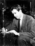 James Stewart Photo - JAMES STEWARTJOINS OPERATION ROGER DRIVEHE ENLISTED IN THE ARMY AIR FORCES AND ROSE TO THE RANK OF COLONEL HE IS FILLING OUT ONE OF THE AAF ADDRESS CARDS ISSUED IN A DRIVE TO OBTAIN THE PRESENT ADDRESSES OF ALL FORMER MEMBERS OF THE AAFGLOBE PHOTOS INC