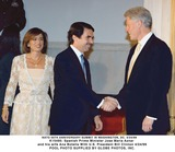 Ana Botella Photo - Spanish Prime Minister Jose Maria Aznar and His Wife Ana Botella Us President Bill Clinton Gamma Liaison N 350036