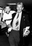 Peter O Toole Photo - Peter Otoole with His Son Lorcan at Heathrow Airport 1985 Globe Photos Inc Peterotooleretro
