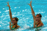 Anastasia Ermakova Photo - 2004 Olympic Games Athens-greece Synchronized Swimming 08232004 Photo by Mattia DalbertolapresseGlobe Photosinc Anastasia Davidova and Anastasia Ermakova Beatrice Speziani and Lorena Zaffalon